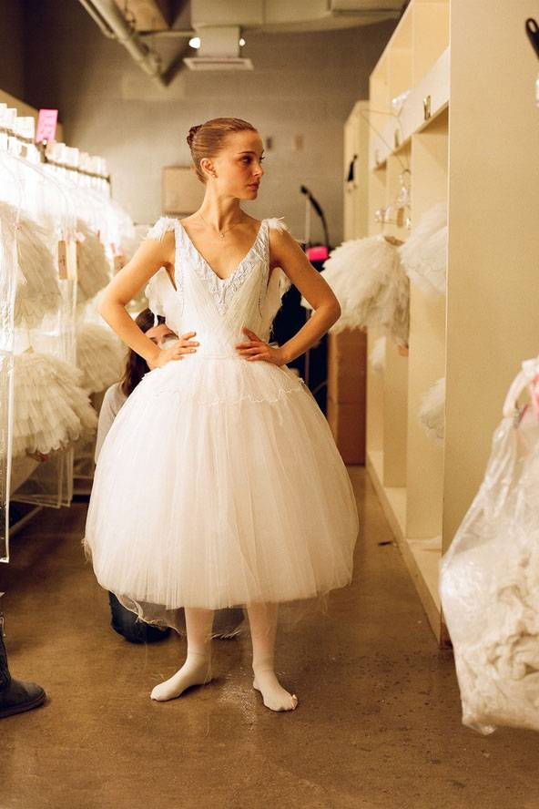 White dress in black swan movie