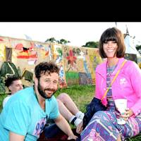 Dawn O'Porter and Chris O'Dowd at Glastonbury