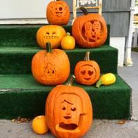 Sassy Girl Emoji Pumpkin