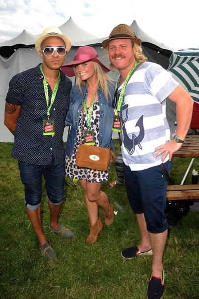 Emma Bunton, Jade Jones and Keith Lemon in the Virgin Media Louder Lounge 2012