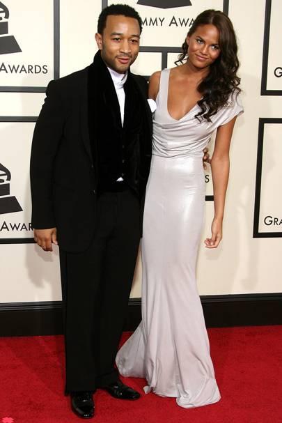 Chrissy's tweet: 'Grammys 2008. 10 years ago. This tan!!! Lmao' - January 2018