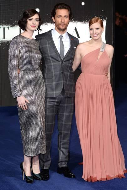 Anne Hathaway, Matthew McConaghuey, Jessica Chastain