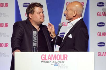 He presented the GLAMOUR Awards... and fell out with Patrick Stewart