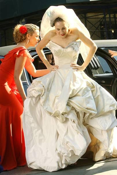2b6dd676239 It s the Vivienne Westwood dress that kicked Carrie s suit s little ass