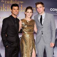 Taylor Lautner, Kristen Stewart and Robert Pattinson at the Berlin premiere