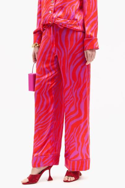 Zebra Print Trousers - Halpern