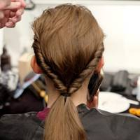 A twisted ponytail