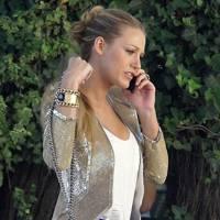 Serena van der Woodsen's gold blazer