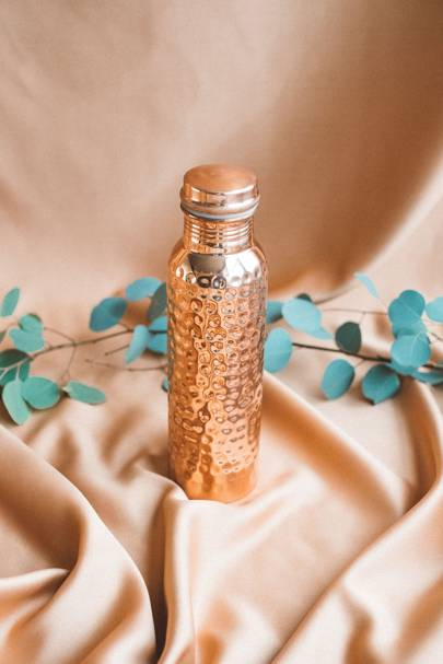 """""""Small Hammered"""" Copper Water Bottle, 900ml by Coast Copper"""