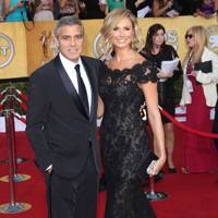 George Clooney and Stacy Keibler at the SAGs 2012