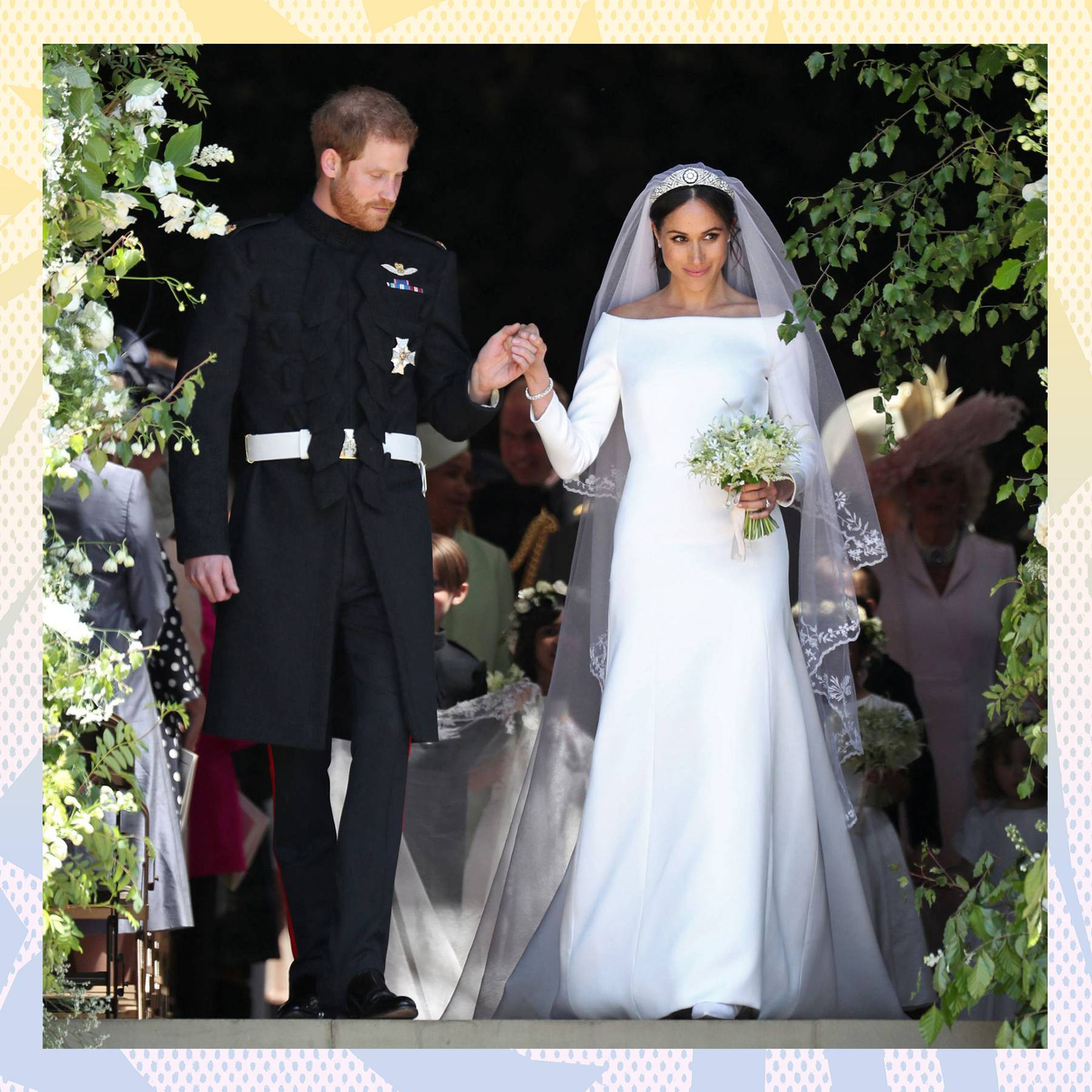Markle Wedding Dress.Meghan Markle S Wedding Dress News And Pictures Glamour Uk