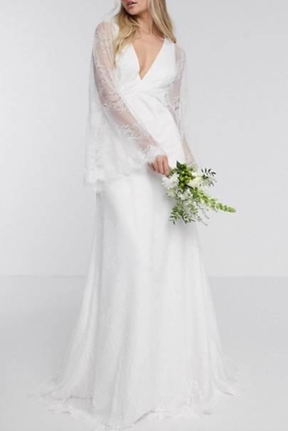 Best kimono sleeve ASOS wedding dress