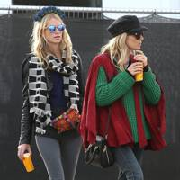 Sienna Miller and Poppy Delevingne at Glastonbury