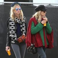 Sienna Miller and Poppy Delevingne at Glastonbury