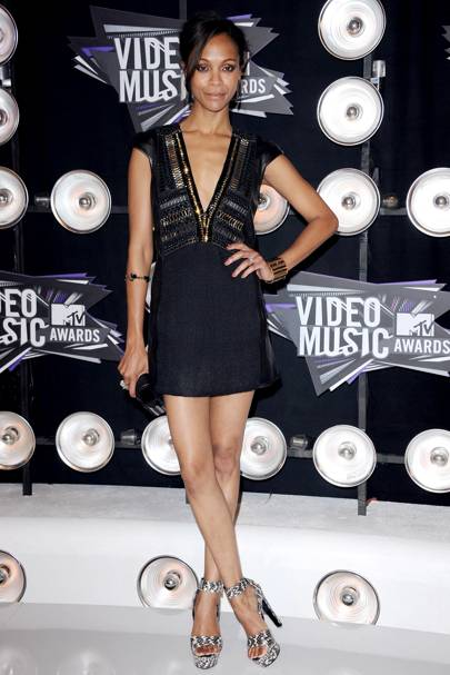 Zoe Saldana at the MTV VMAs 2011