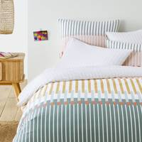 Best duvet cover for muted pops of colour
