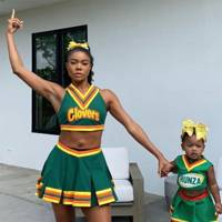 Gabrielle Union and her daughter as Clovers