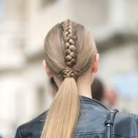 Plaited ponytail