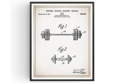 Gift for gym lovers: the weight art print