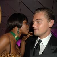 Naomi Campbell  and Leonardo DiCaprio
