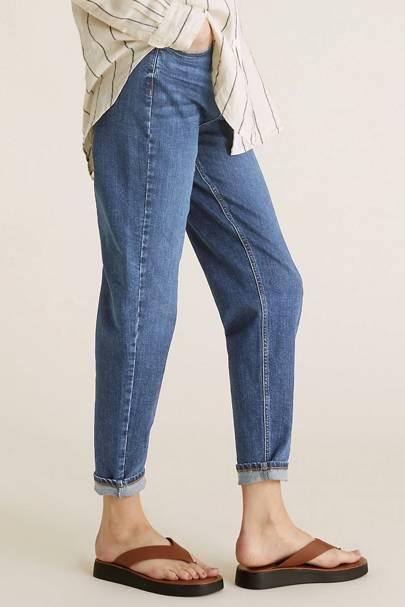 Yours Women/'s Indigo Bootcut Isla Jeans Plus Size Curve Blue Size