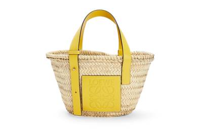 LOEWE BASKET BAGS 2021 - Small Bag with Yellow Patch