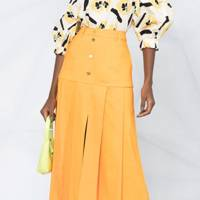 BEST PLEATED SKIRTS: BUTTONED