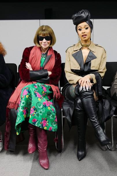 Anna Wintour and Cardi B