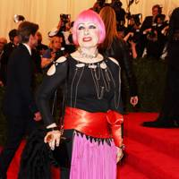 Zandra Rhodes at the Met Gala