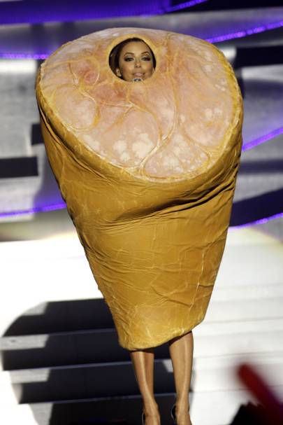 22. Eva Longoria dresses as a ham