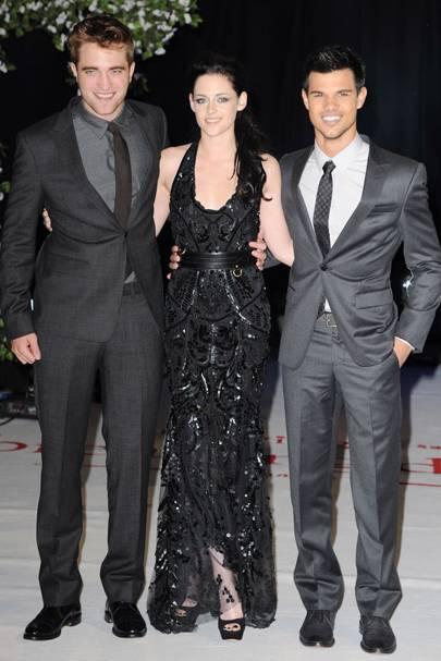 Rob, Kristen and Taylor at the UK premiere of Breaking Dawn