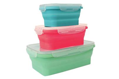 Silicone meal prep containers