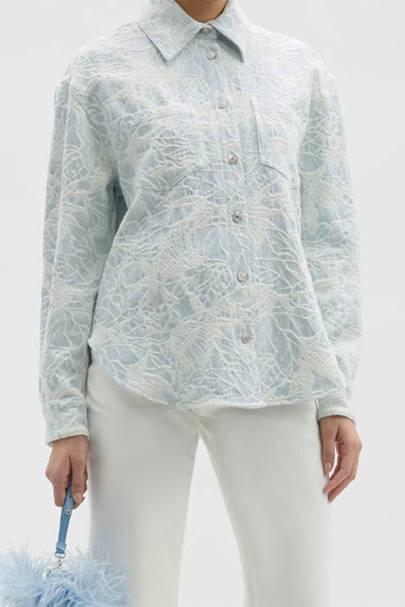 Best Denim Shirts - Floral Denim