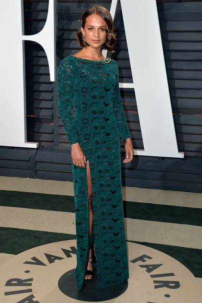 Alicia Vikander at the Vanity Fair after-party