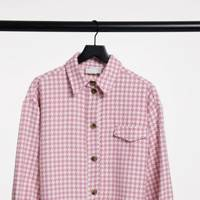Best Shackets For Spring - Pink Dogtooth