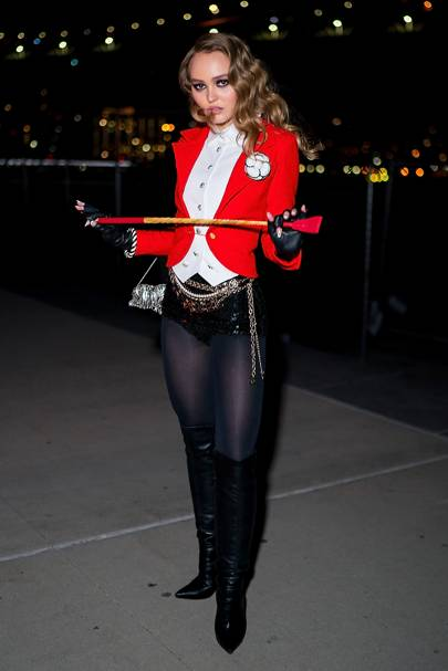 Lily-Rose Depp as a Circus Ring Leader