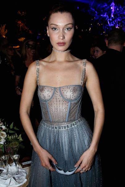 Bella Hadid in Christian Dior