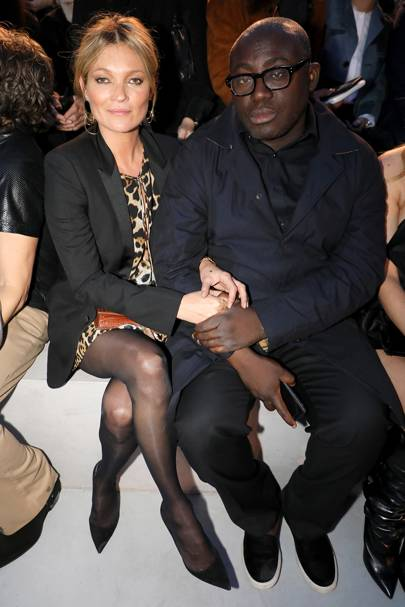 Kate Moss and Edward Enninful