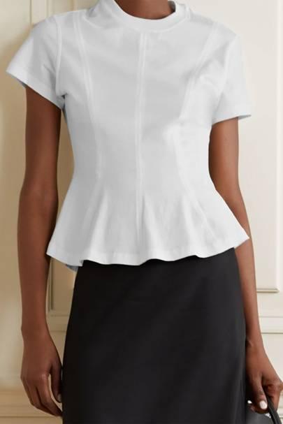 Best white t-shirt women: the peplum tee