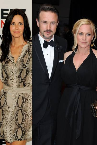 David Arquette & Courteney Cox & Patricia Arquette