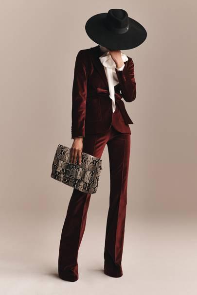 4. THE LOOK'S HIGHLIGHT: The rich red velvet