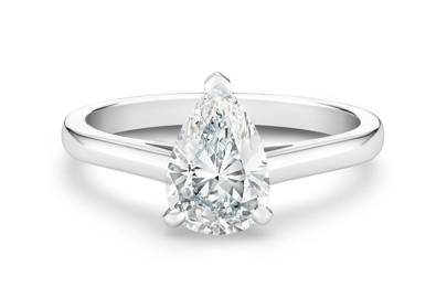 Victoria Beckham-Inspired Engagement Rings - The Pear Cut