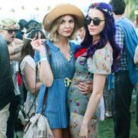Katy Perry and Elizabeth 'Z' Berg at Coachella 2012