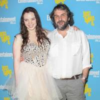 Katie and Peter Jackson at Comic-Con 2012