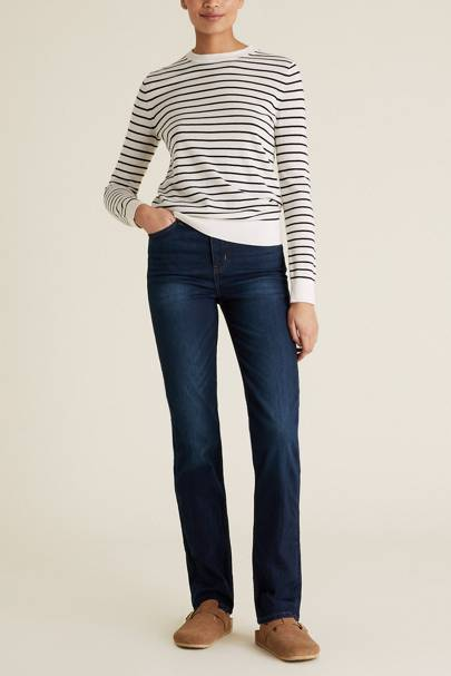 Best Jeans For Curvy Women: Straight Leg Stretch