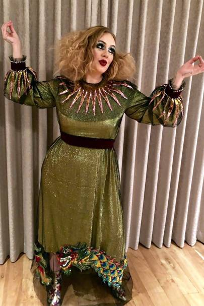 @adele / Instagram  sc 1 st  Glamour UK : glamorous halloween costume  - Germanpascual.Com