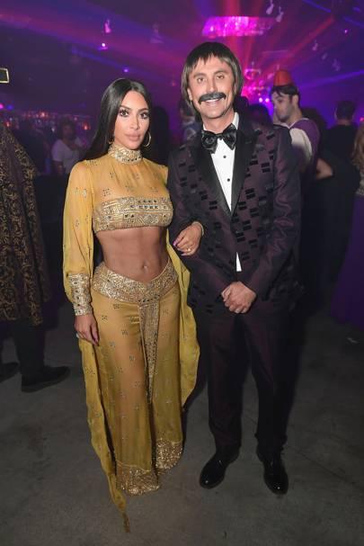 Kim Kardashian and Jonathan Cheban as Sonny and Cher