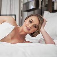 ed85fa486d1 Iskra Lawrence is the picture of bridal beauty in Justin Alexander s  stunning new campaign