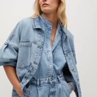 Mango Sustainable Denim Collection: the oversized jacket