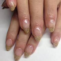 Gold Glittery Tips
